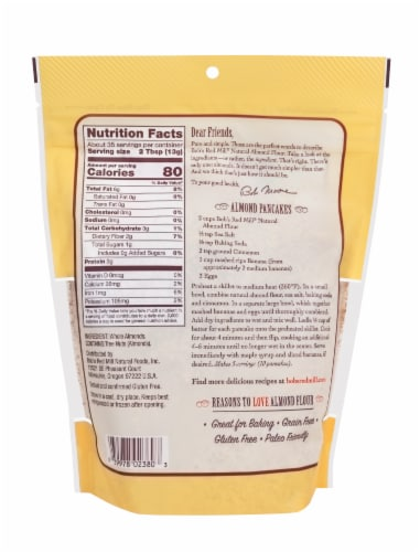 Bob's Red Mill Super-Fine Natural Almond Flour Perspective: back
