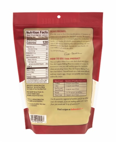 Bob's Red Mill Gluten Free All Purpose Baking Flour Perspective: back