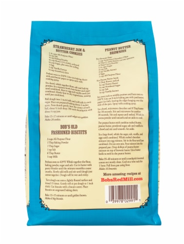 Bob's Red Mill Organic Unbleached White All-Purpose Flour Perspective: back