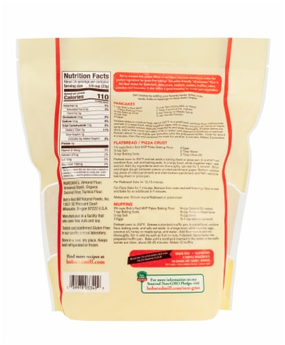 Bob's Red Mill Grain Free Paleo Baking Flour Perspective: back