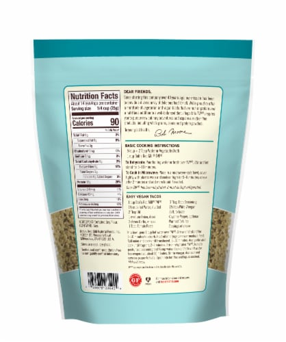 Bob's Red Mill Textured Vegetable Protein Perspective: back