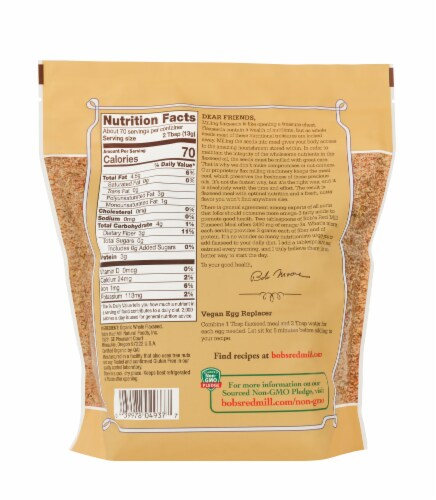 Bob's Red Mill Organic Flaxseed Meal Perspective: back