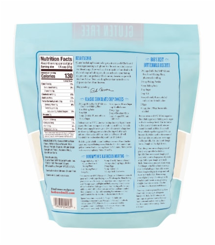 Bob's Red Mill Gluten Free 1 to 1 Baking Flour Perspective: back