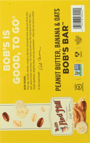 Bob's Red Mill  Bob's Peanut Butter Banana & Oats Better Bar 12 Count Perspective: back