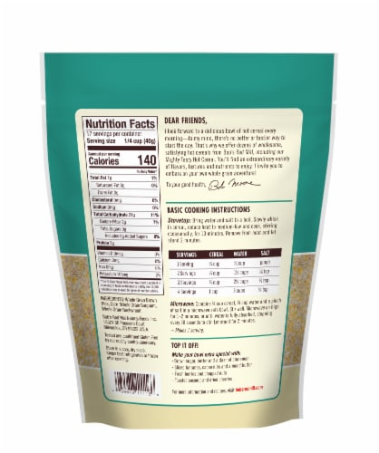 Bob's Red Mill Gluten Free Mighty Tasty Hot Cereal Perspective: back