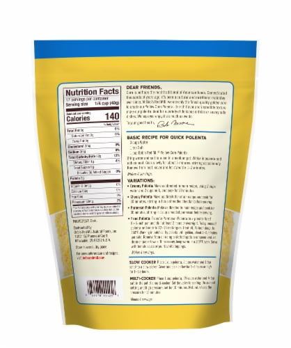 Bob's Red Mill® Yellow Corn Grits Polenta Perspective: back