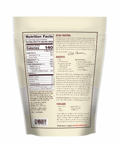 Bob's Red Mill Gluten Free Biscuit & Baking Mix Perspective: back