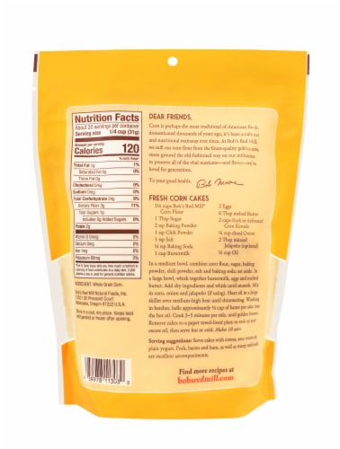 Bob's Red Mill Corn Flour Perspective: back