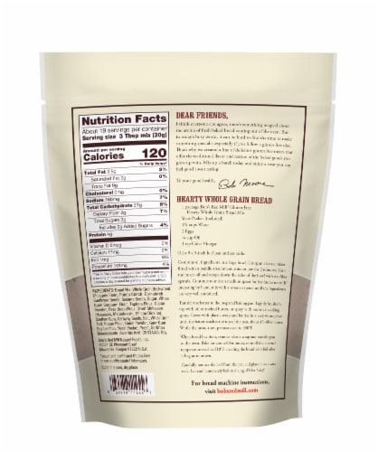 Bob's Red Mill Gluten Free Hearty Whole Grain Bread Mix Perspective: back