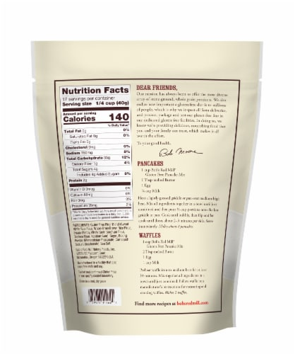 Bob's Red Mill Gluten Free Pancake Mix Perspective: back