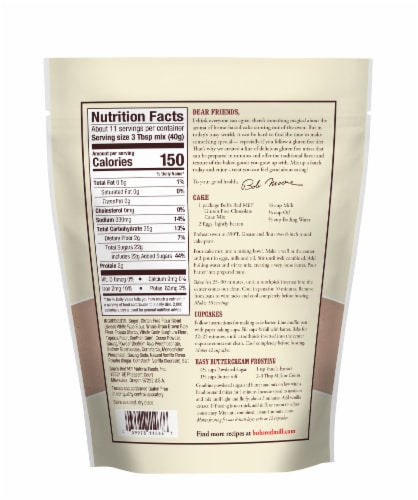 Bob's Red Mill Gluten Free Chocolate Cake Mix Perspective: back