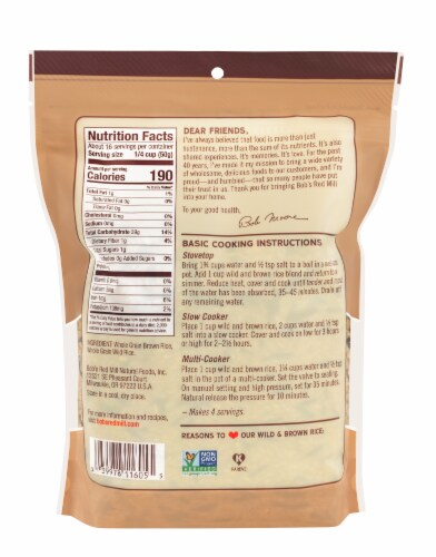 Bob's Red Mill Wild And Brown Rice Mix Perspective: back
