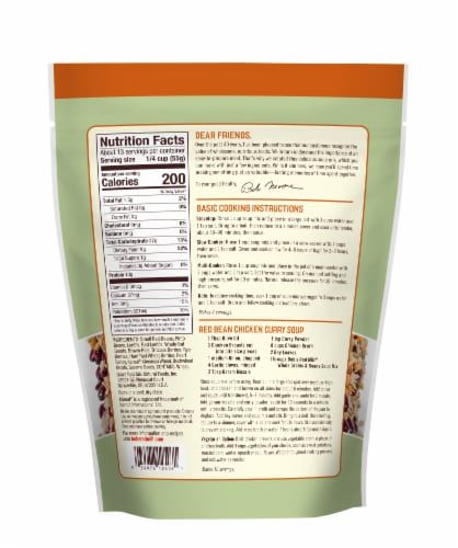 Bob's Red Mill Whole Grains & Beans Soup Mix Perspective: back