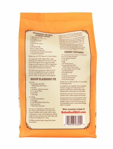 Bob's Red Mill Whole Wheat Pastry Flour Perspective: back