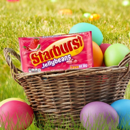 STARBURST FaveREDS Jelly Beans Chewy Easter Candy Bag Perspective: back