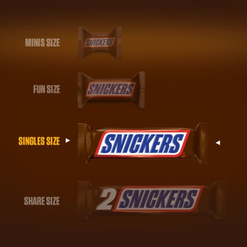 Snickers® Full Size Chocolate Candy Bars Perspective: back