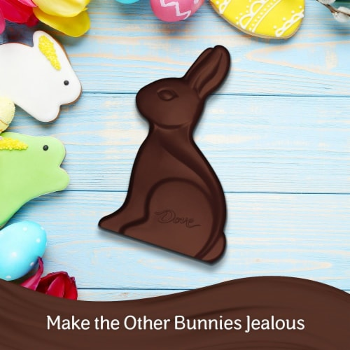 Dove Solid Dark Chocolate Bunny Perspective: back