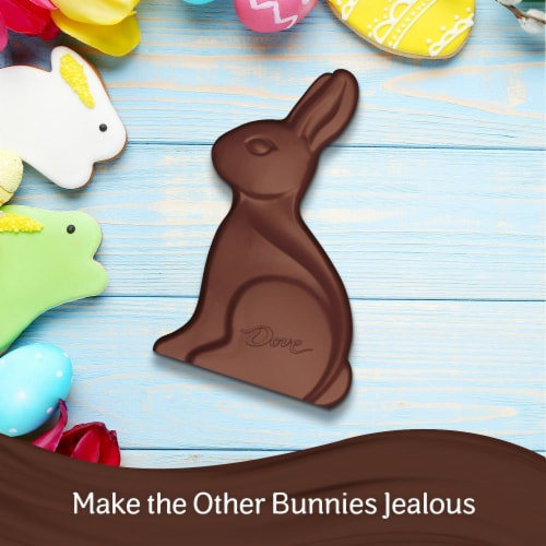 DOVE Easter Candy Milk Chocolate Candy Solid Chocolate Easter Bunny Box Perspective: back