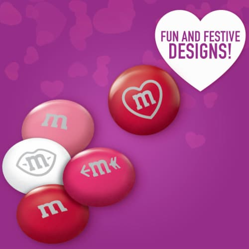 M&M'S Milk Chocolate Valentine Candy Heart Candy Cane Perspective: back
