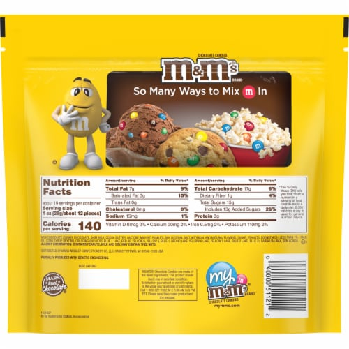 M&M's Peanut Milk Chocolate Candies Perspective: back