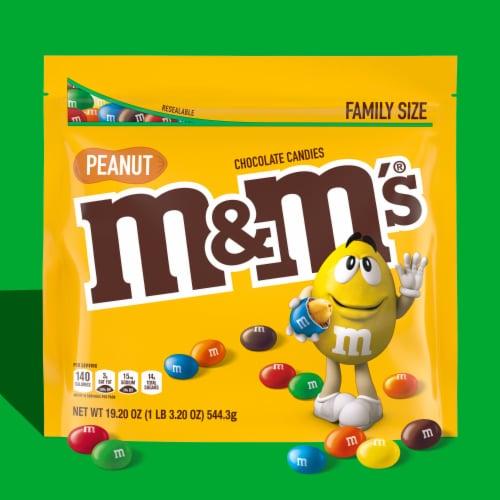 M&M's® Peanut & Milk Chocolate Bite Size Candies Perspective: back