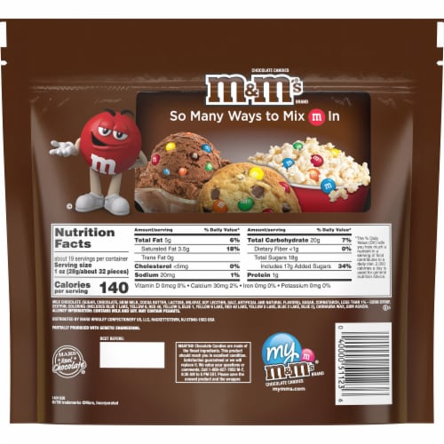 M&M'S® Milk Chocolate Bite Size Candies Perspective: back