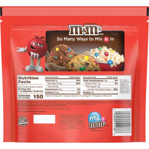M&M'S Peanut Butter Chocolate Candies Bag Perspective: back