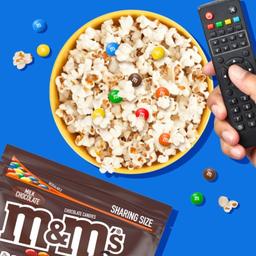 M&M's Milk Chocolate Candy Perspective: back