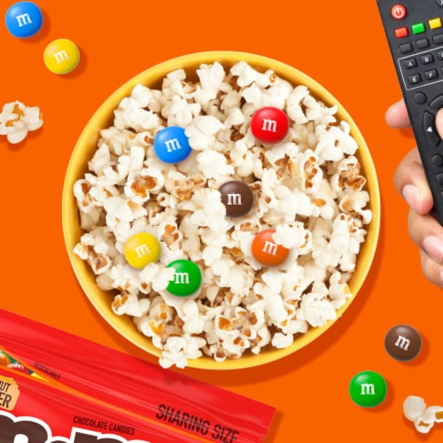 M&M's Peanut Butter Milk Chocolate Candy Sharing Size Bag Perspective: back