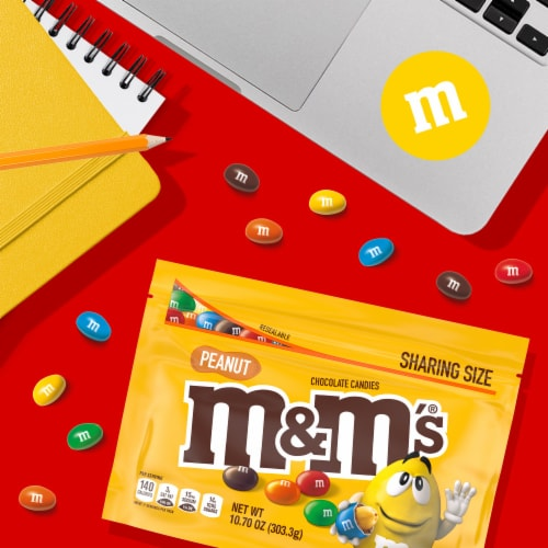 M&M's Peanut Milk Chocolate Candy Perspective: back