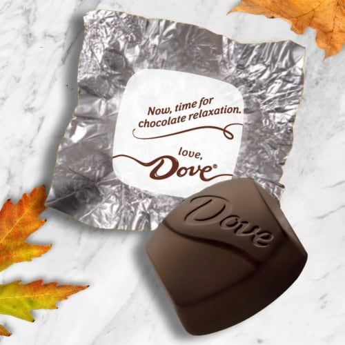 Dove® Promises Silky Smooth Dark Chocolate Pumpkins Halloween Candy Perspective: back