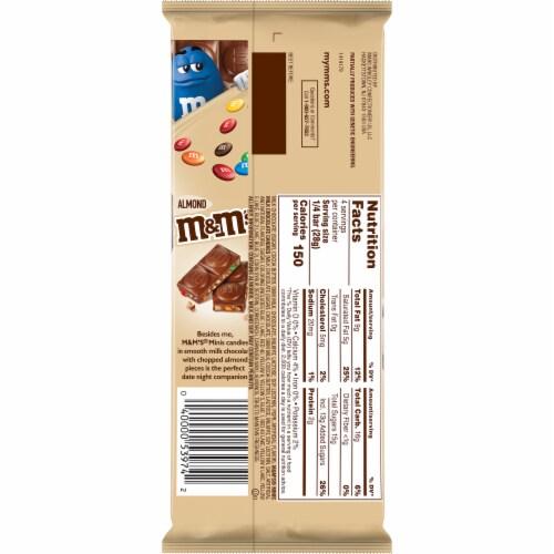 M&M's Minis & Almonds Milk Chocolate Bar Perspective: back