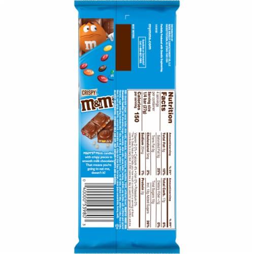 M&M's Minis & Crisp Rice Milk Chocolate Bar Perspective: back