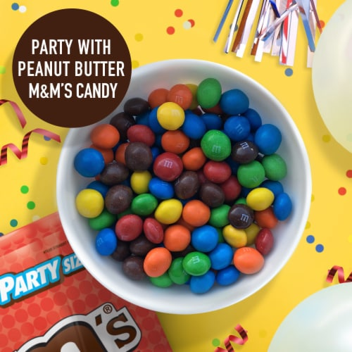 M&M'S Peanut Butter Chocolate Candy, 34-Ounce Party Size Bag Perspective: back