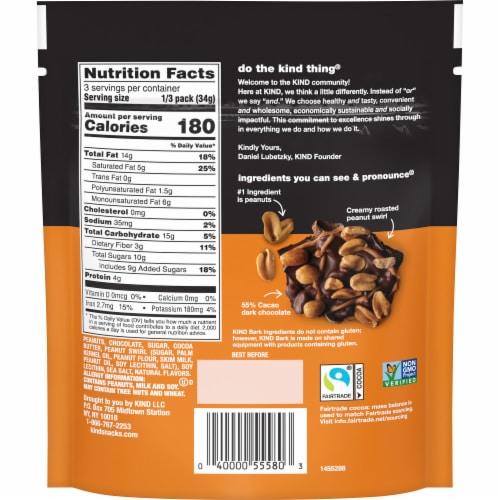 KIND Dark Chocolate & Roasted Peanuts Bark Perspective: back