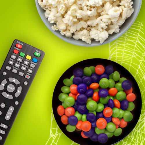 M&M's® Ghoul's Mix Peanut Butter Chocolate Halloween Candy Perspective: back