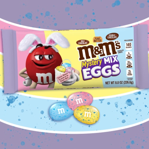 M&M'S Mystery Mix Speckled Eggs Chocolate Easter Candy Bag Perspective: back