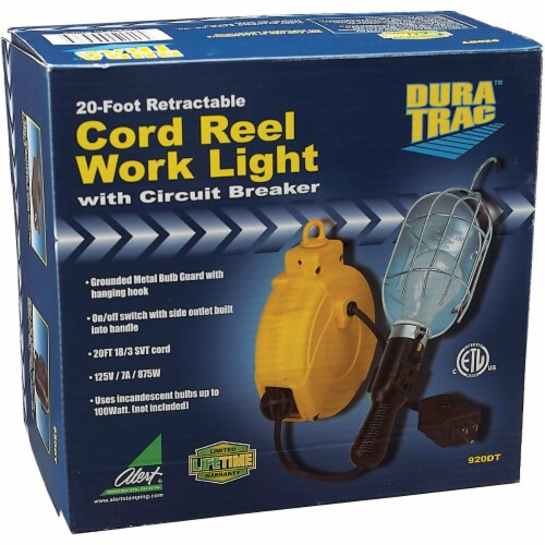 Alert Stamping 75W Incandescent Trouble Light with 20 Ft. Power Cord 920DT Perspective: back