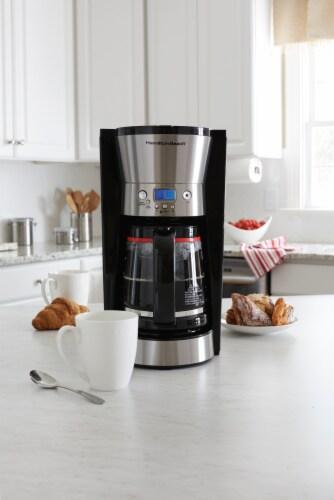 Hamilton Beach Programmable Coffee Maker - Black Perspective: back
