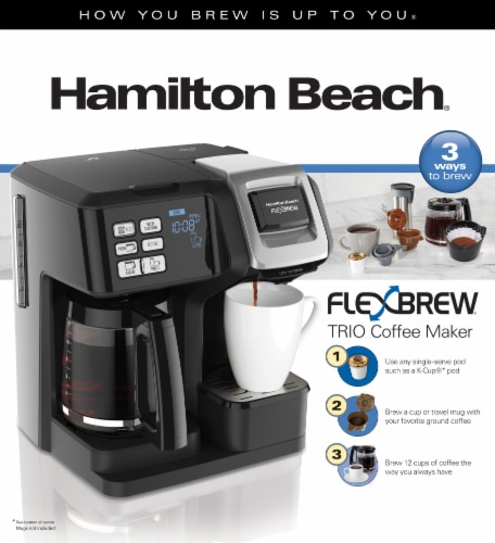 Hamilton Beach FlexBrew® Single Serve 2-Way Coffee Maker - Black Perspective: back