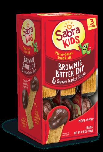Sabra Kids Brownie Batter Dip & Graham Cracker Sticks Plant-Based Snack Kit Perspective: back