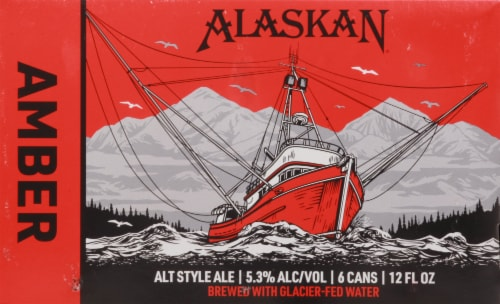 Alaskan Brewing Co. Amber Alt Style Ale Perspective: back