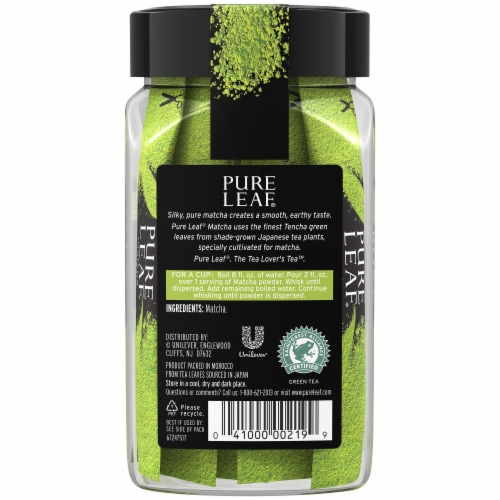 Pure Leaf Pure Matcha Sachets 12 Count Perspective: back