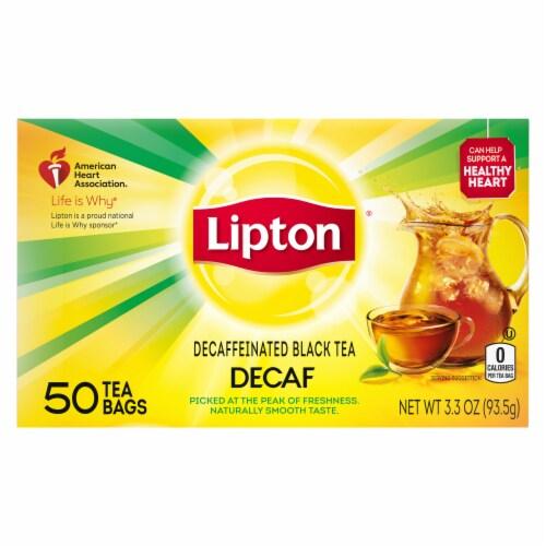 Lipton Decaffeinated Black Tea Bags Perspective: back
