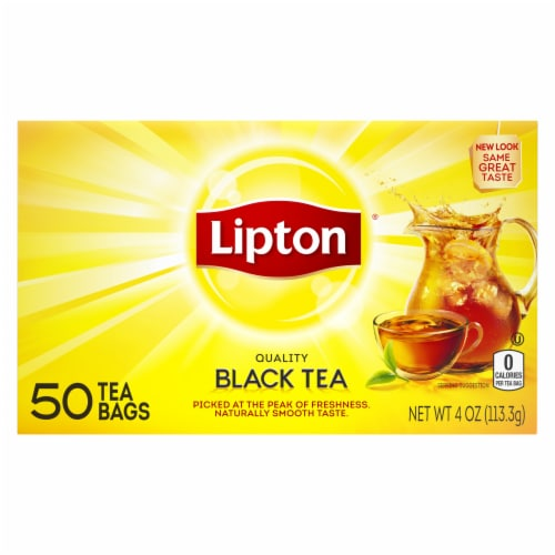 Lipton Black Tea Bags Perspective: back