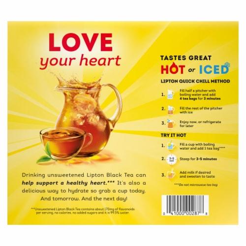 Lipton Black Tea Bags Perspective: back
