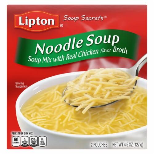Lipton Soup Secrets Noodle Soup Mix Perspective: back