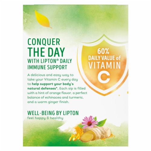 Lipton Daily Immune Support Turmeric Echinacea and Ginger Green Tea Bags Perspective: back