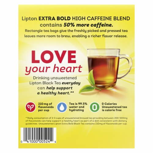 Lipton Extra Bold Premium Black Tea Bags Perspective: back