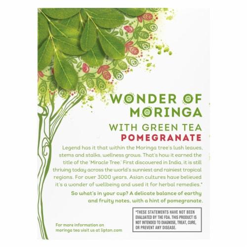 Lipton® Miracle Moringa Pomegranate Green Tea Bags Perspective: back